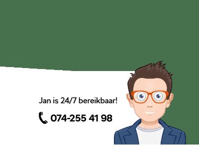Bel nu om een afspraak te maken. Jan stuurt u daarna per SMS de bevestiging.